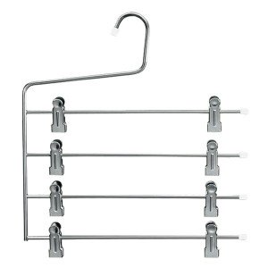 Metal hanger with 4 bars and clips 34 cm.
