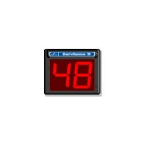 Pantalla de turno de 2 dígitos con mando a distancia
