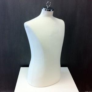 Busto caballero para costura o exponer ropa con tapa para colgar