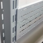 Perforated panel for shelves and gondolas