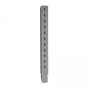 Iron column extension for shelves and gondolas