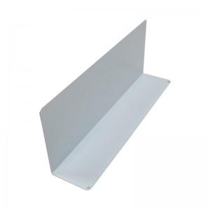 Separador metálico para baldas de estanterías y góndolas