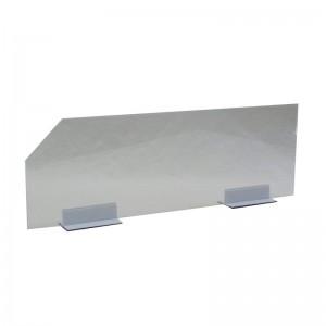 Separador de metacrilato para baldas de estanterías y góndolas