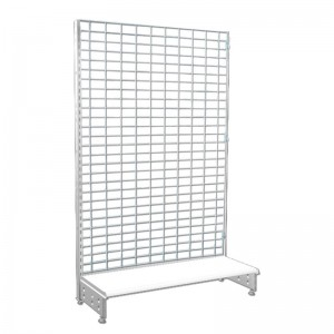 Steel mesh shelf