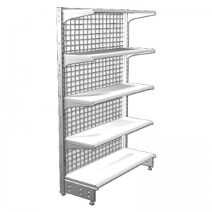 Shelf with shelves and iron mesh