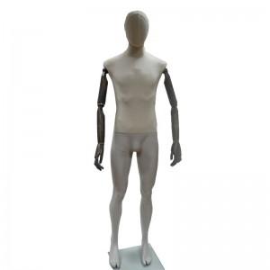 Maniquí caballero sin rasgos con brazos articulados