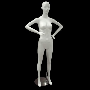White matt lady mannequin mod. Cristina