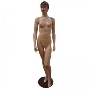 Lady mannequin flesh color carved hair mod. Gloria