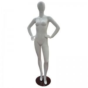 Mannequin dame blanc brillant sans relief mod. Vera