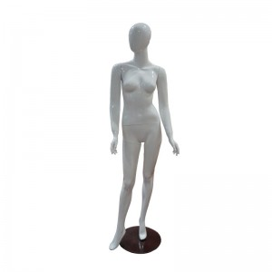 Maniquí de senyora blanc brillant sense trets mod. Celia