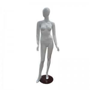 Maniquí señora blanco brillo sin rasgos mod. Celia