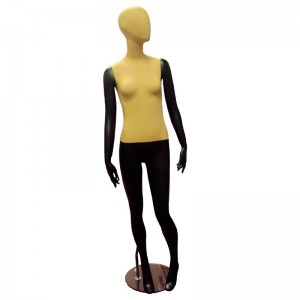 Black lady mannequin with fabric without features mod. Joana