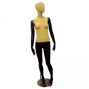 Maniquí señora negro con tela sin rasgos mod. Joana