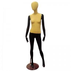 Maniquí señora negro con tela sin rasgos mod. Mar