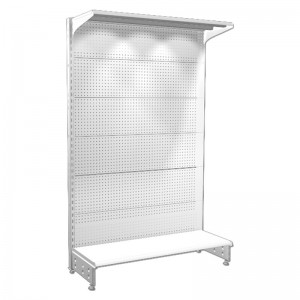 Shelving 1-sided of 1.2 m. high with perforated panel