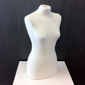 Buste de femme anatomique 2 tubes pour le couture ou exposer vêtements