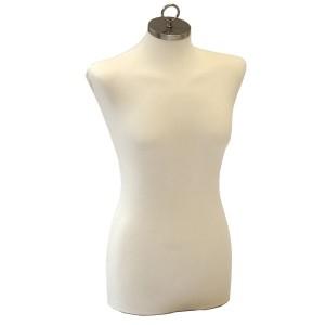 Busto donna per le cucitura o l'esposizione di abbigliamento con tappo per appendere