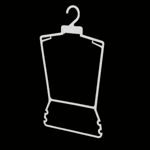 Hanger silhouette for clothing sets, bikinis and swimsuits