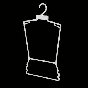 Kleiderbügel Schattenbild für Satz von Kleidung, Bikinis und Badeanzüge